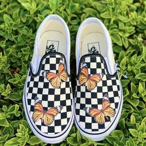 Custom checker butterfly vans